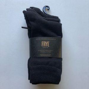 NWT Frye Everyday Crew Sock 3-Pack in black